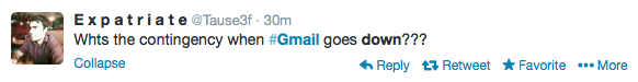 Gmail Contingency Plan