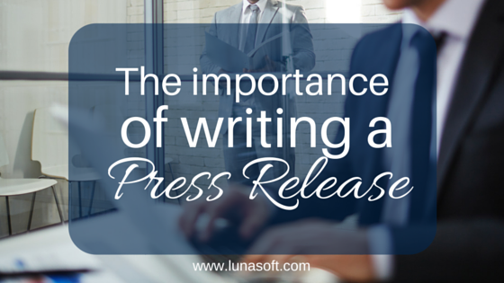 The importance of a press release